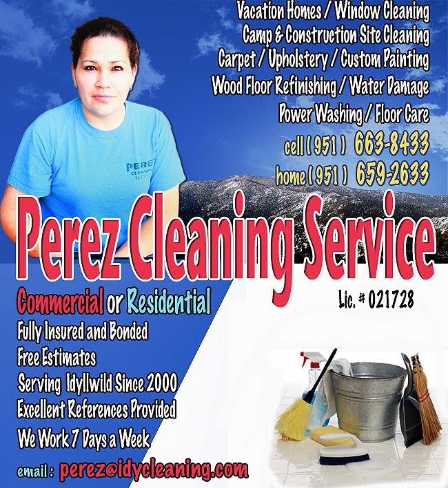 Perez Cleaning Service of Idyllwild, California
